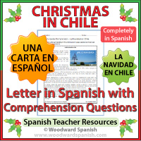 Christmas in Chile - Letter in Spanish