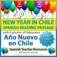 New Year in Chile - Spanish Reading Passage