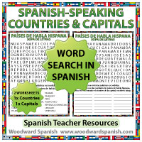 Spanish-speaking Countries Word Search - Spanish Teacher Resources